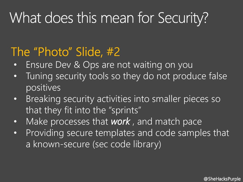 • Ensure Dev & Ops are not waiting on you • Tun...