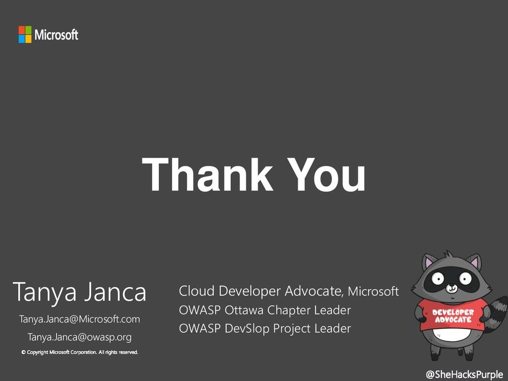 @SheHacksPurple Thank You Cloud Developer Advoc...