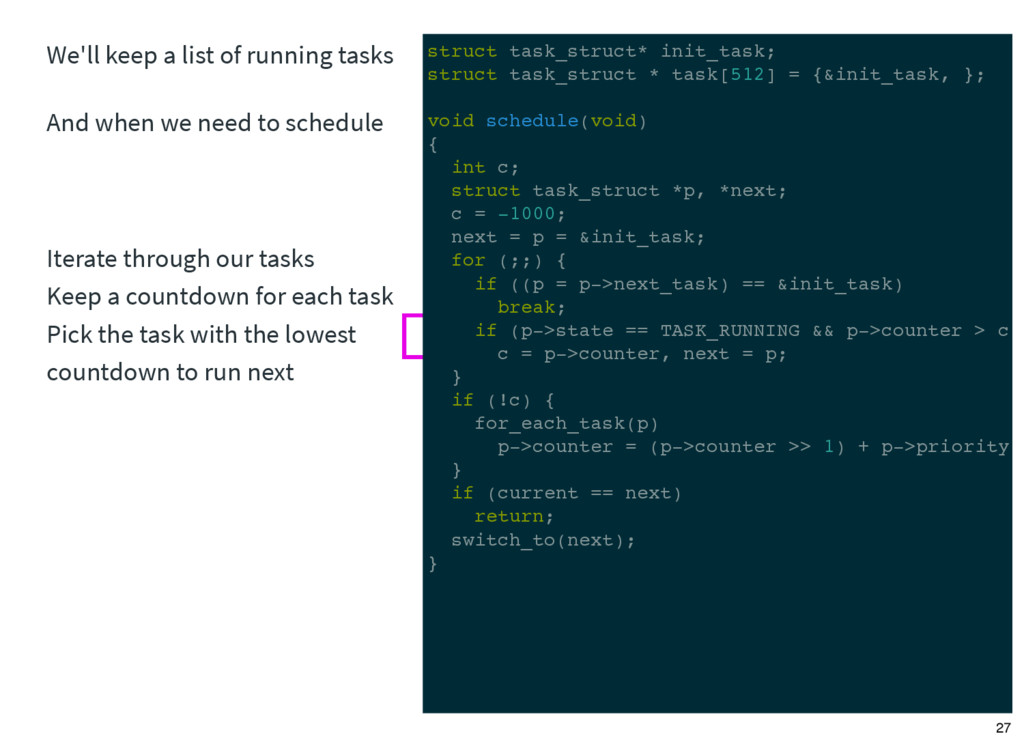 We'll keep a list of running tasks And when we ...