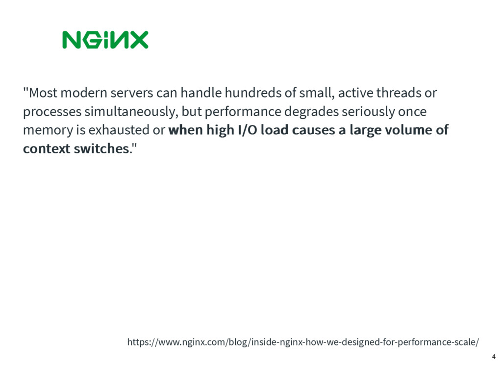 """""""Most modern servers can handle hundreds of sma..."""