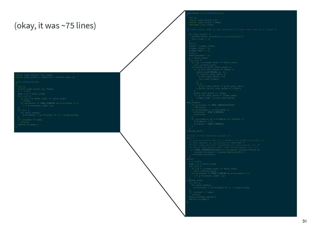 asmlinkage void schedule(void) { int c; struct ...