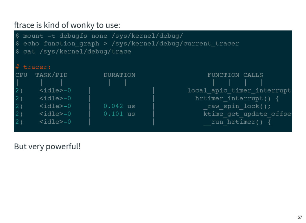 $ mount -t debugfs none /sys/kernel/debug/ $ ec...