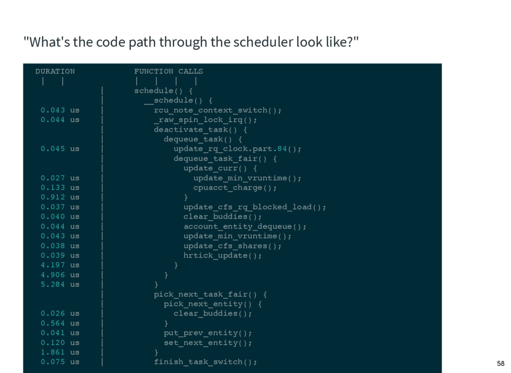 """""""What's the code path through the scheduler loo..."""
