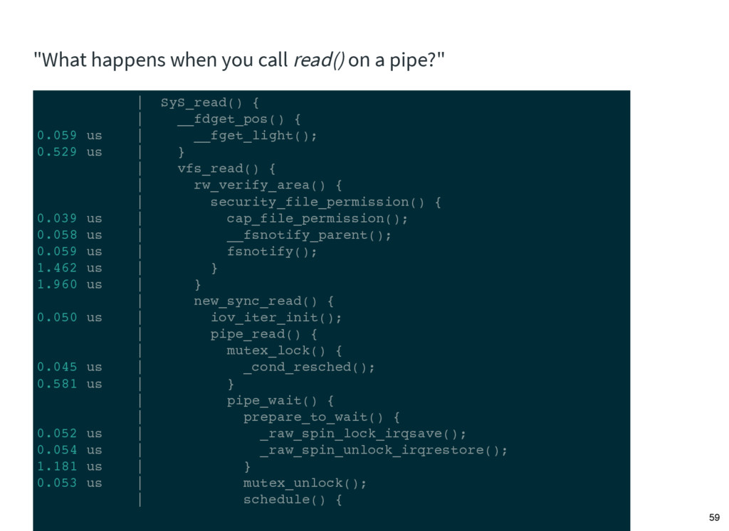 """""""What happens when you call read() on a pipe?"""" ..."""
