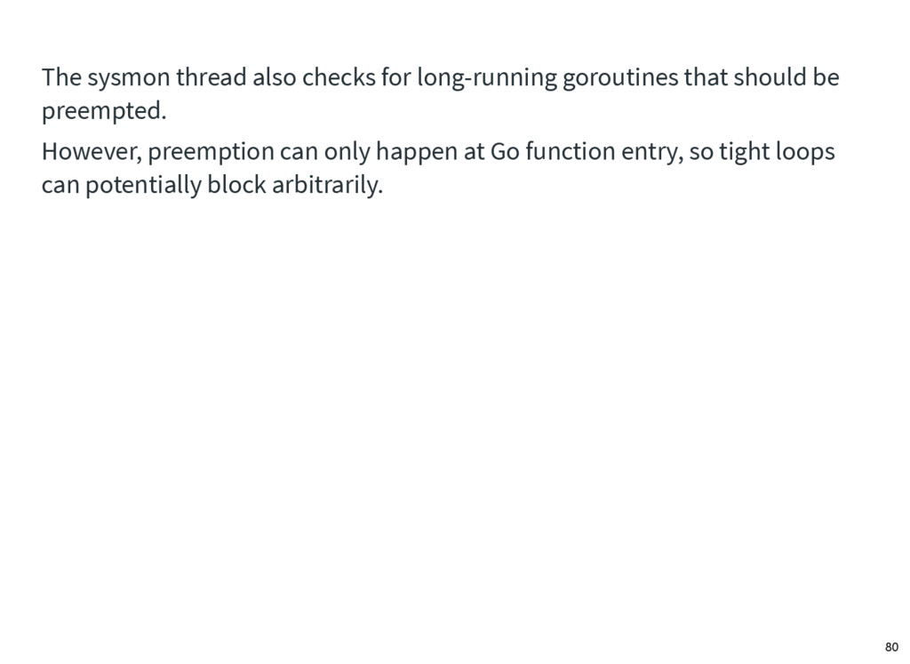 The sysmon thread also checks for long-running ...