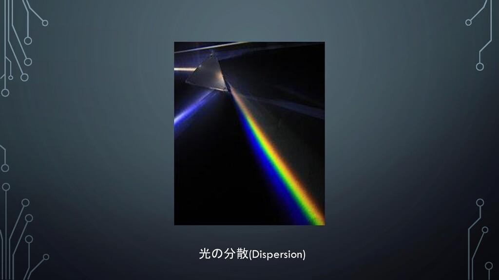 光の分散(Dispersion)