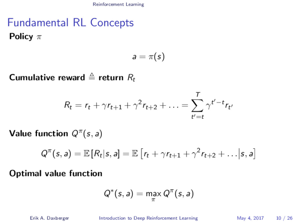 Reinforcement Learning Fundamental RL Concepts ...