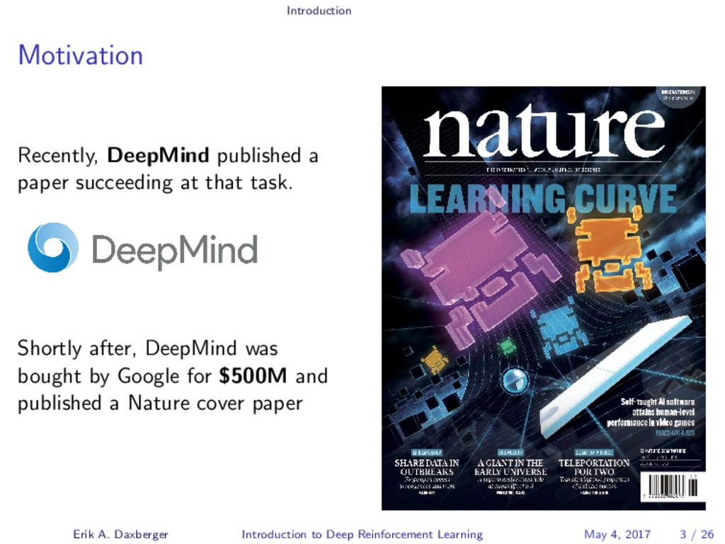 Introduction Motivation Recently, DeepMind publ...