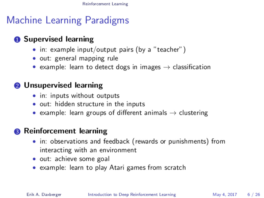 Reinforcement Learning Machine Learning Paradig...