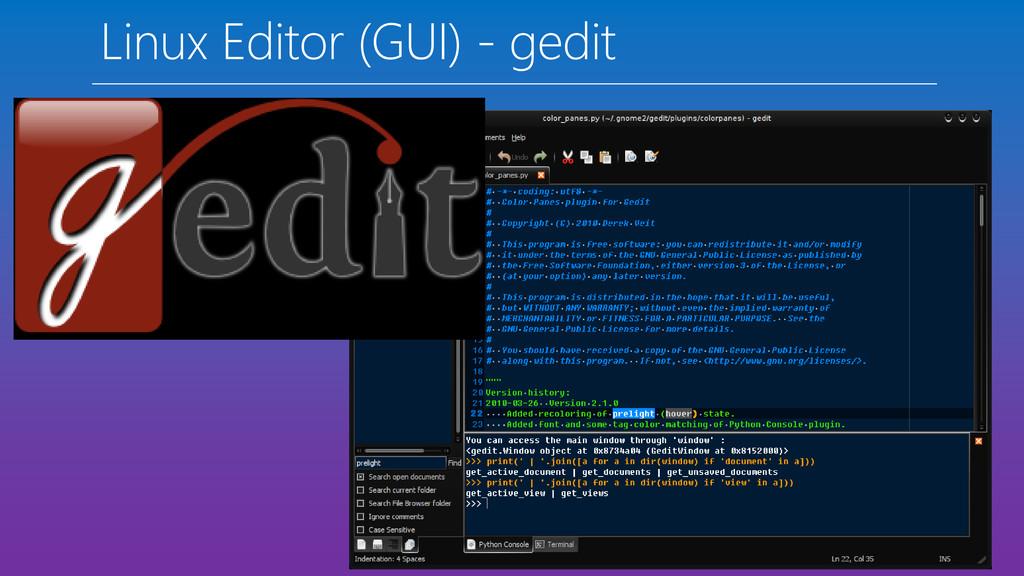 Linux Editor (GUI) - gedit