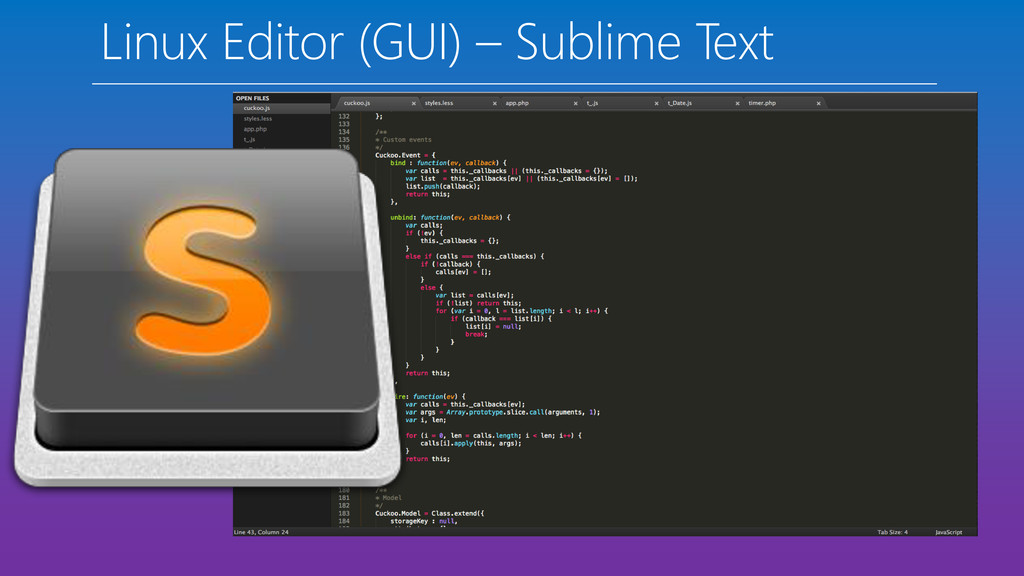 Linux Editor (GUI) – Sublime Text