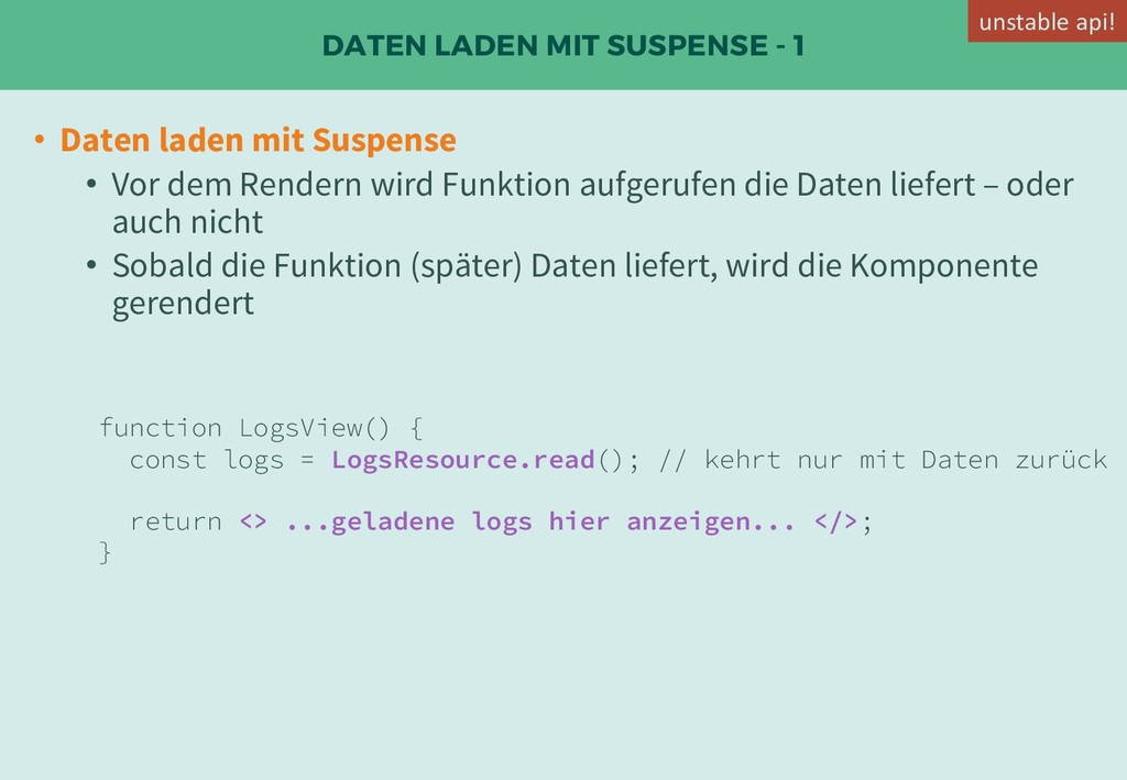 DATEN LADEN MIT SUSPENSE - 1 • Daten laden mit ...