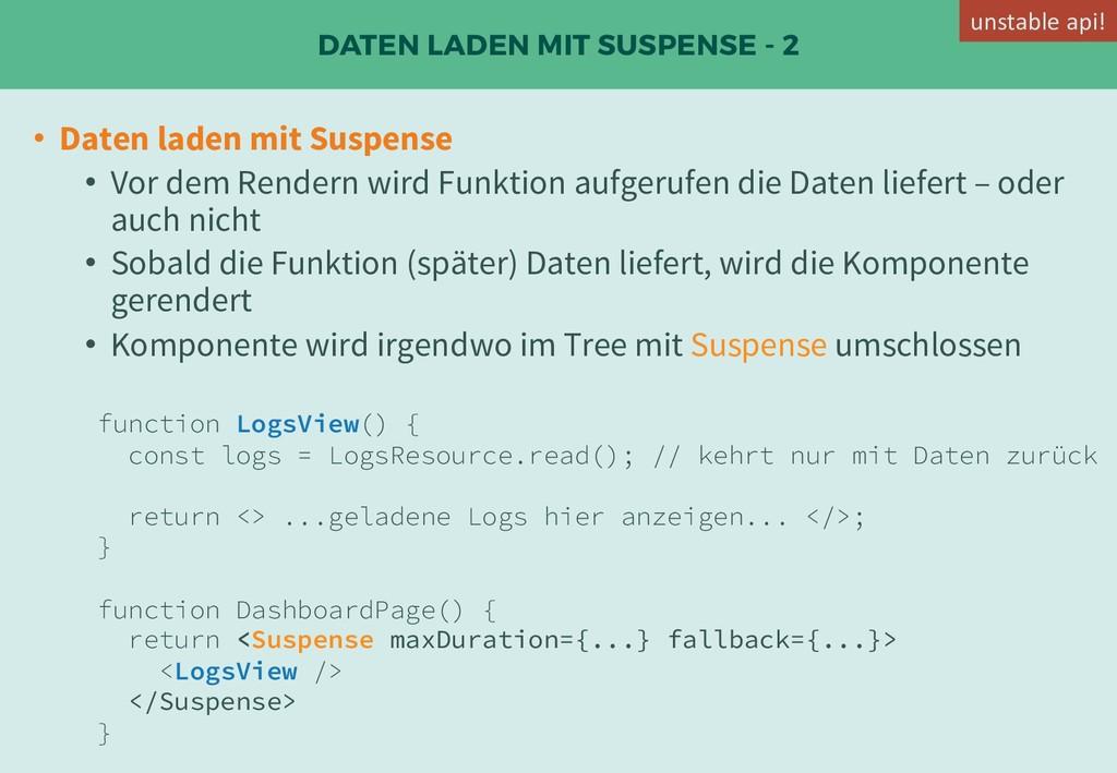 DATEN LADEN MIT SUSPENSE - 2 • Daten laden mit ...