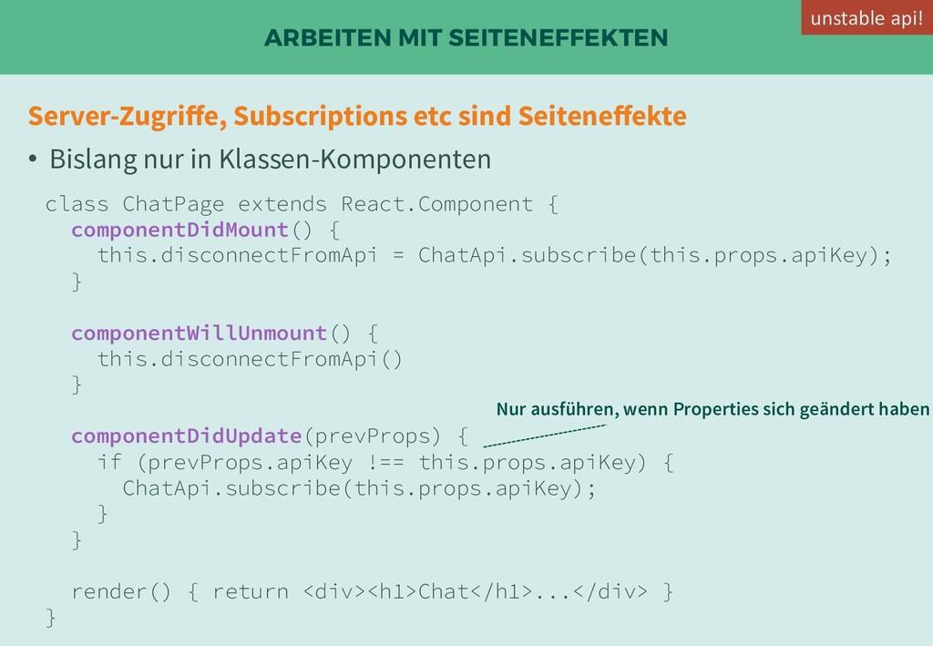 ARBEITEN MIT SEITENEFFEKTEN Server-Zugriffe, Sub...