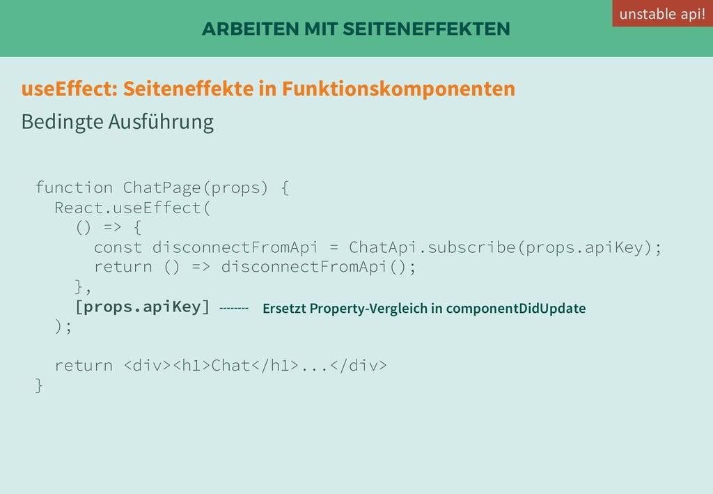 ARBEITEN MIT SEITENEFFEKTEN useEffect: Seitenef...