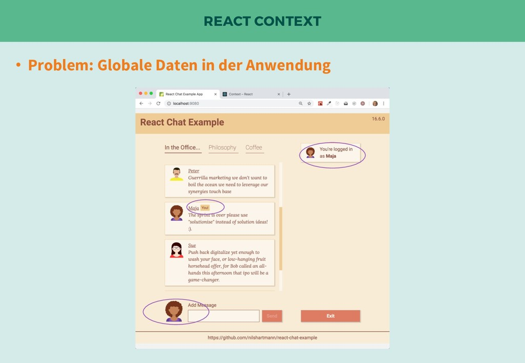 REACT CONTEXT • Problem: Globale Daten in der A...