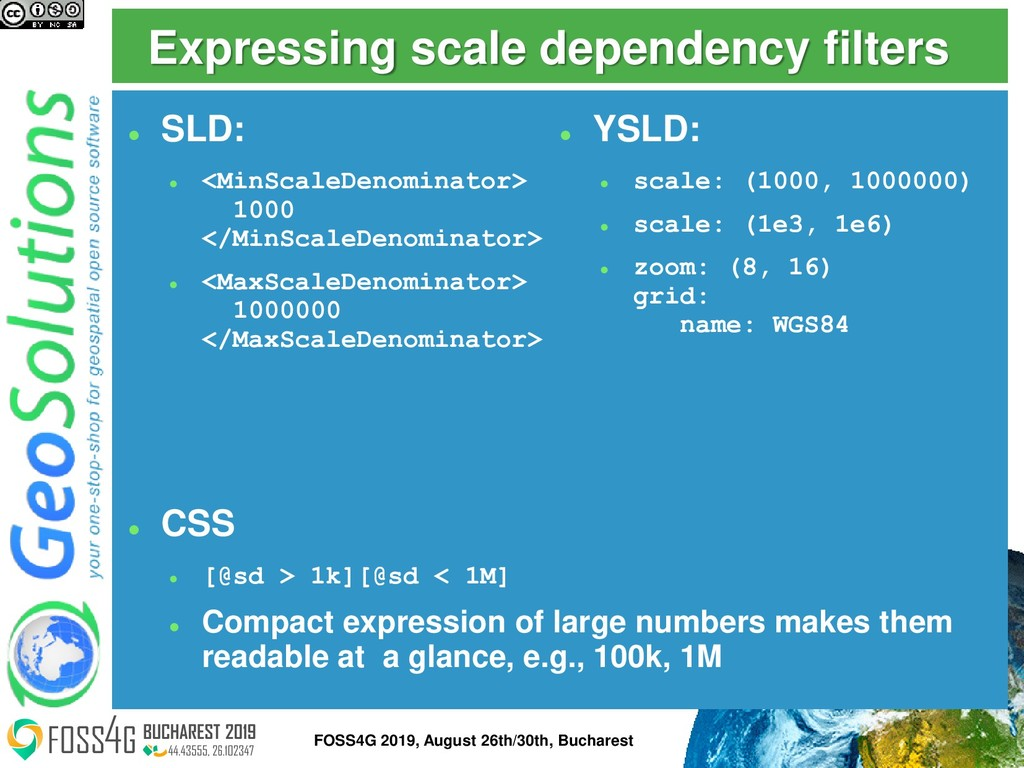 Expressing scale dependency filters ⚫ SLD: ⚫ <M...