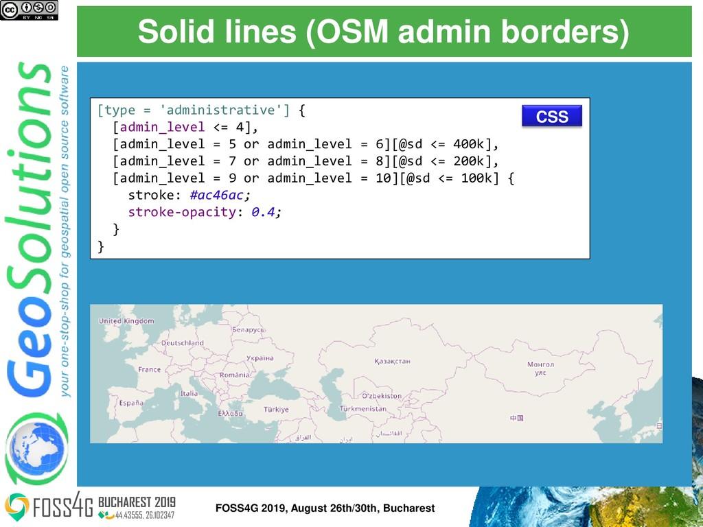 Solid lines (OSM admin borders) [type = 'admini...