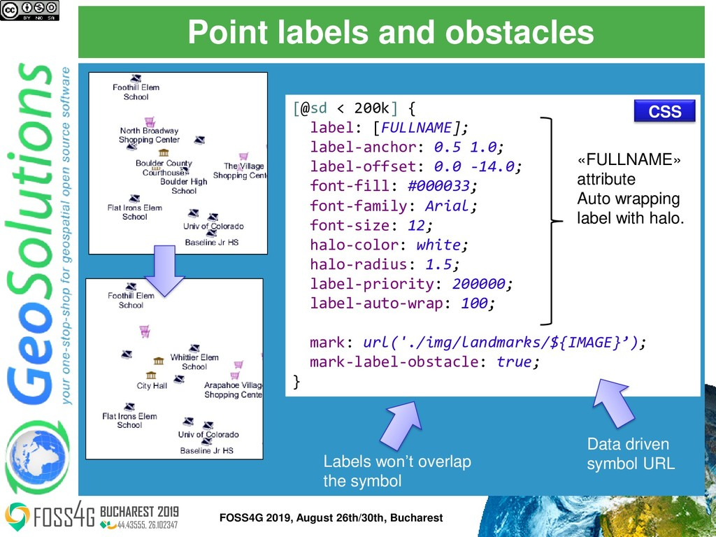 Point labels and obstacles [@sd < 200k] { label...