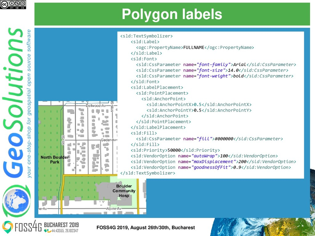 Polygon labels <sld:TextSymbolizer> <sld:Label>...