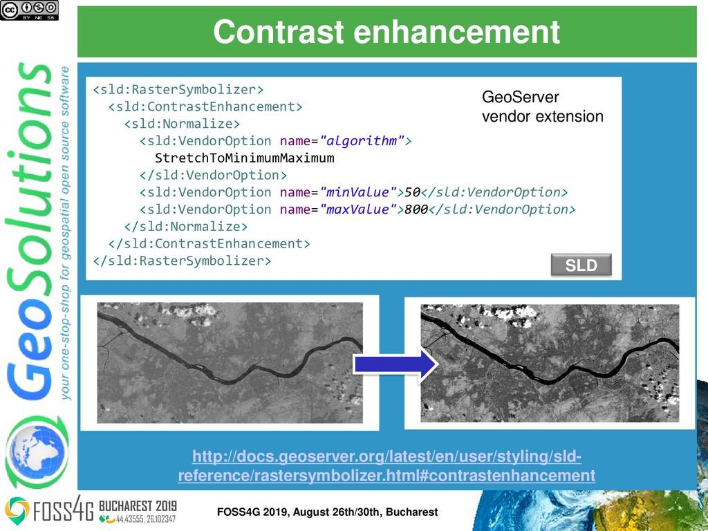Contrast enhancement http://docs.geoserver.org/...