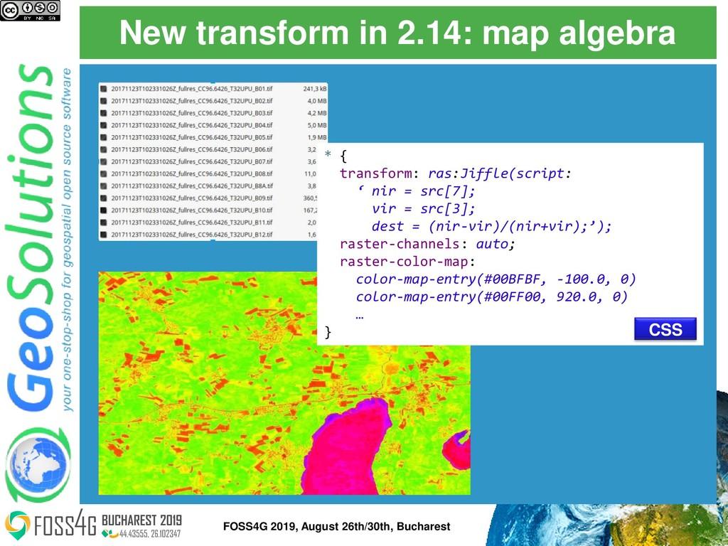 New transform in 2.14: map algebra * { transfor...