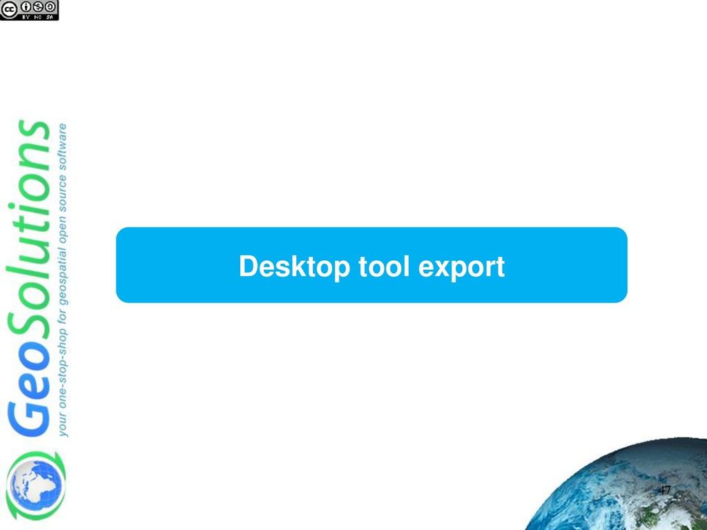 Desktop tool export 47
