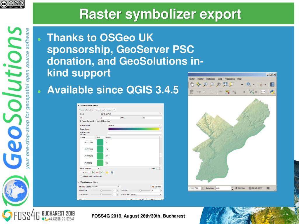Raster symbolizer export ⚫ Thanks to OSGeo UK s...