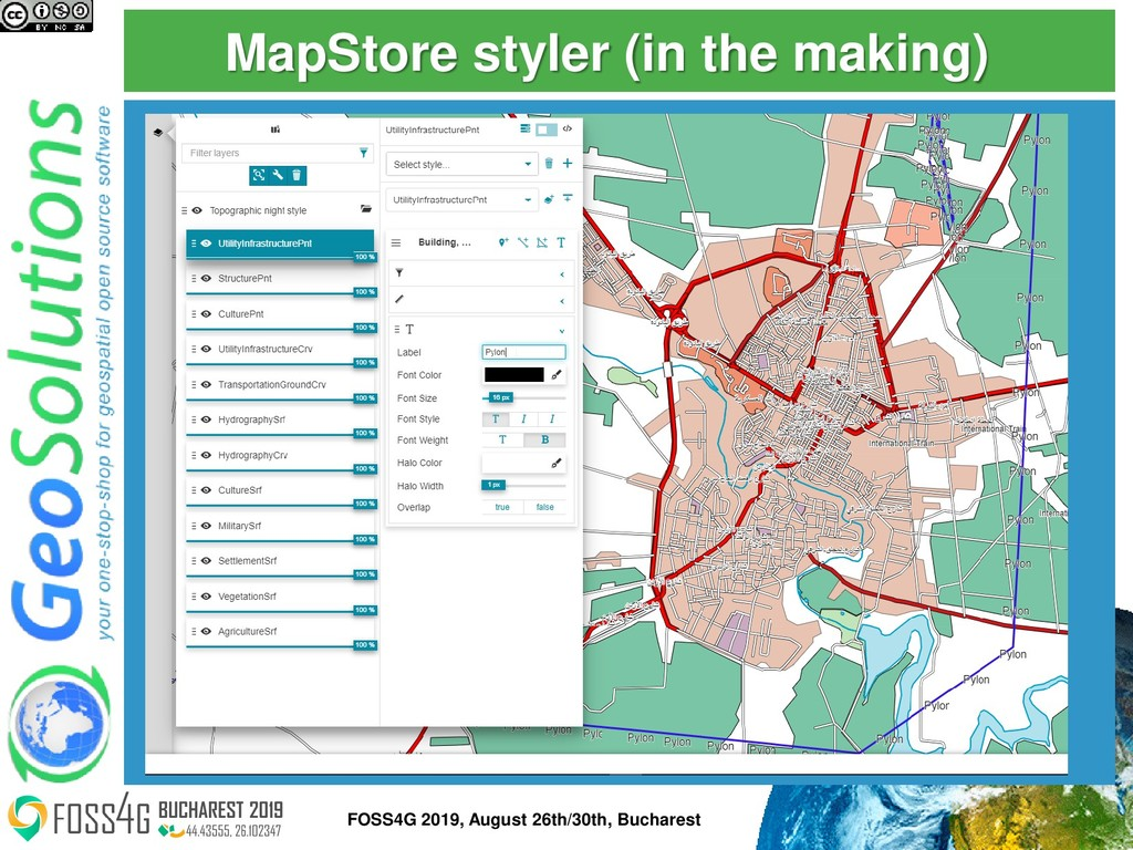 MapStore styler (in the making) 51 FOSS4G 2019,...