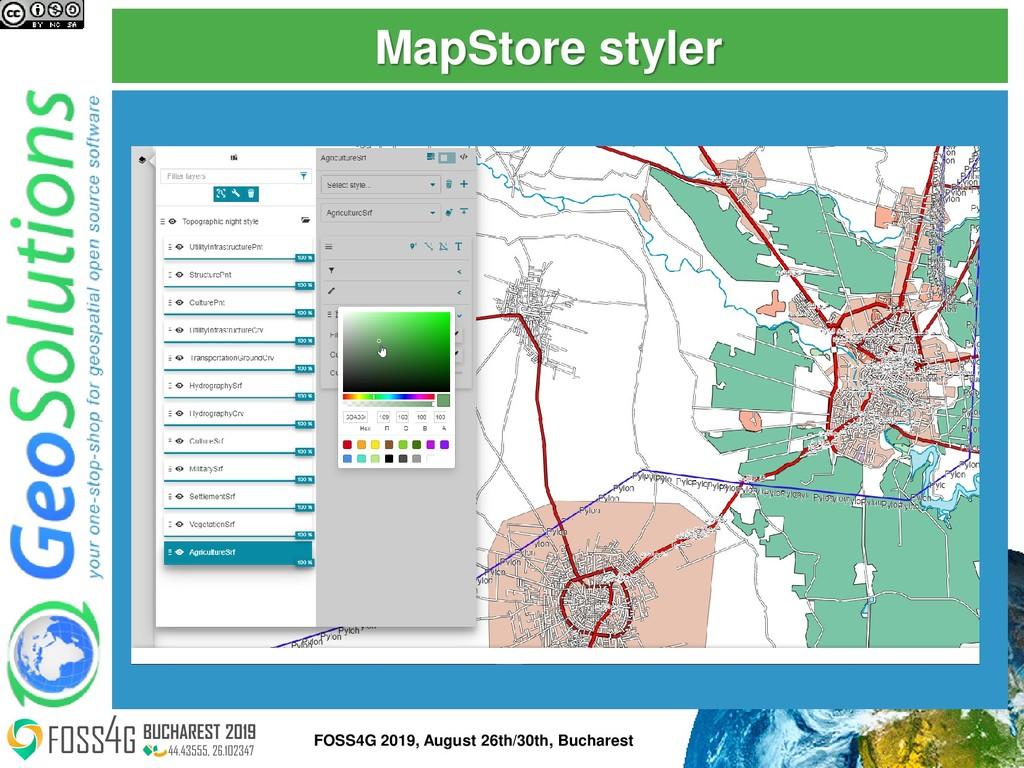 MapStore styler 52 FOSS4G 2019, August 26th/30t...