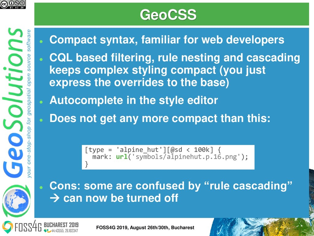 GeoCSS ⚫ Compact syntax, familiar for web devel...