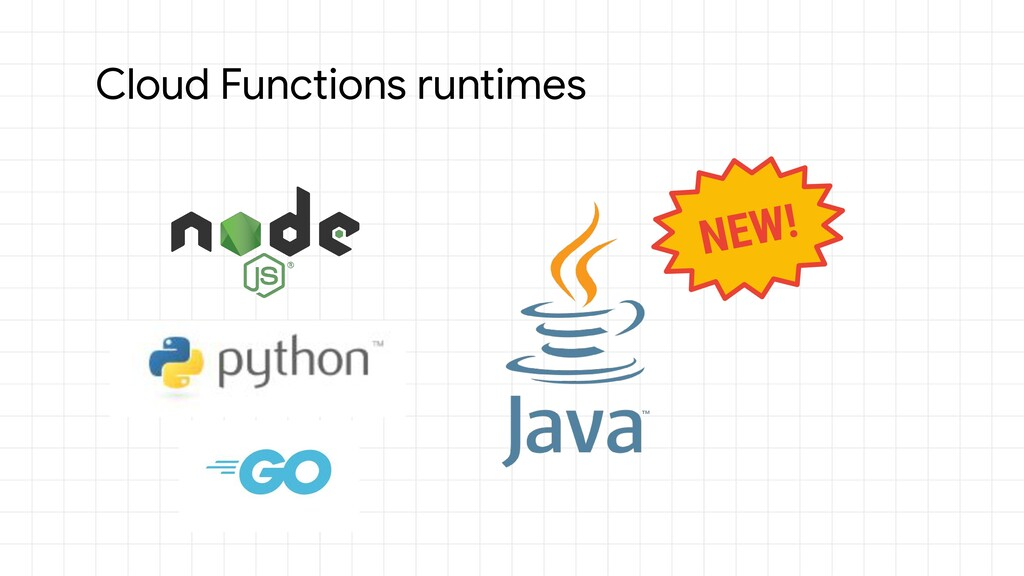 Cloud Functions runtimes NEW!
