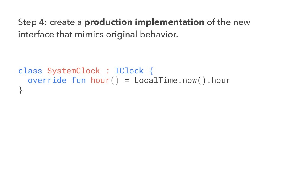 Step 4: create a production implementation of t...