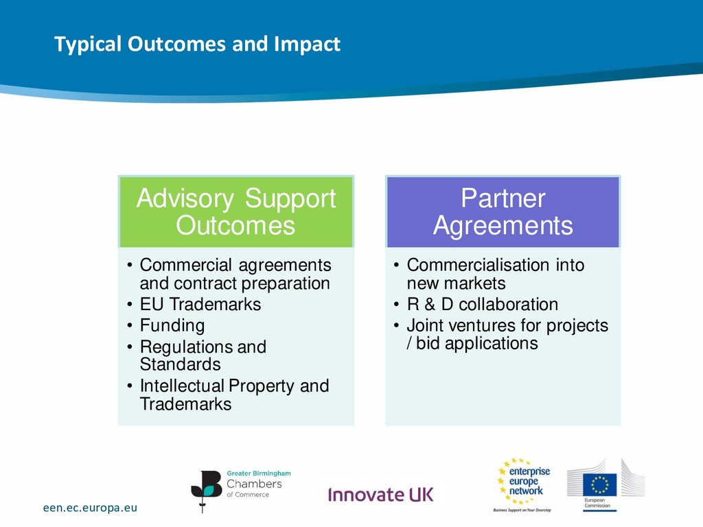 een.ec.europa.eu Advisory Support Outcomes • Co...