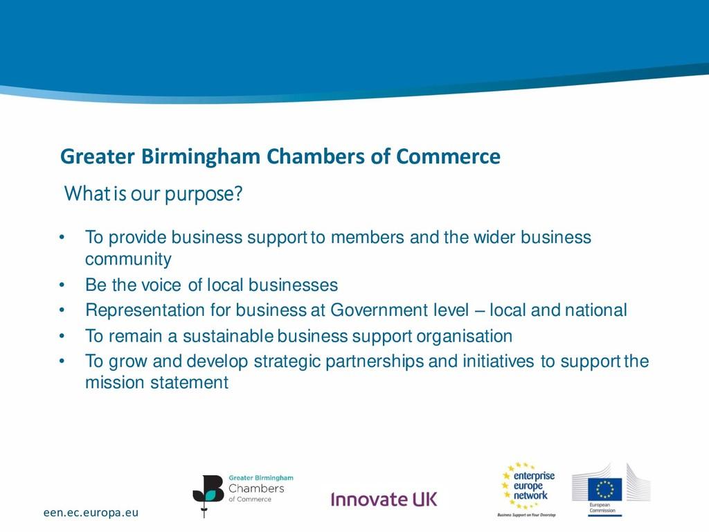 een.ec.europa.eu Greater Birmingham Chambers of...