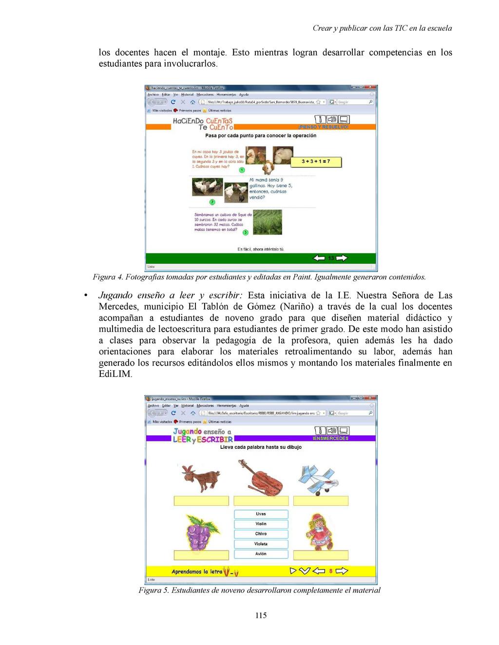 Crear y publicar con las TIC en la escuela los ...