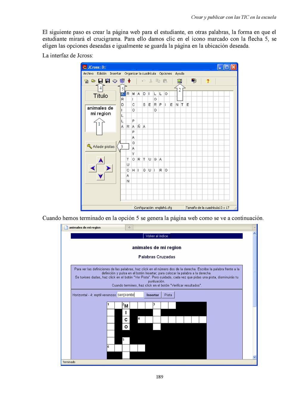 Crear y publicar con las TIC en la escuela El s...