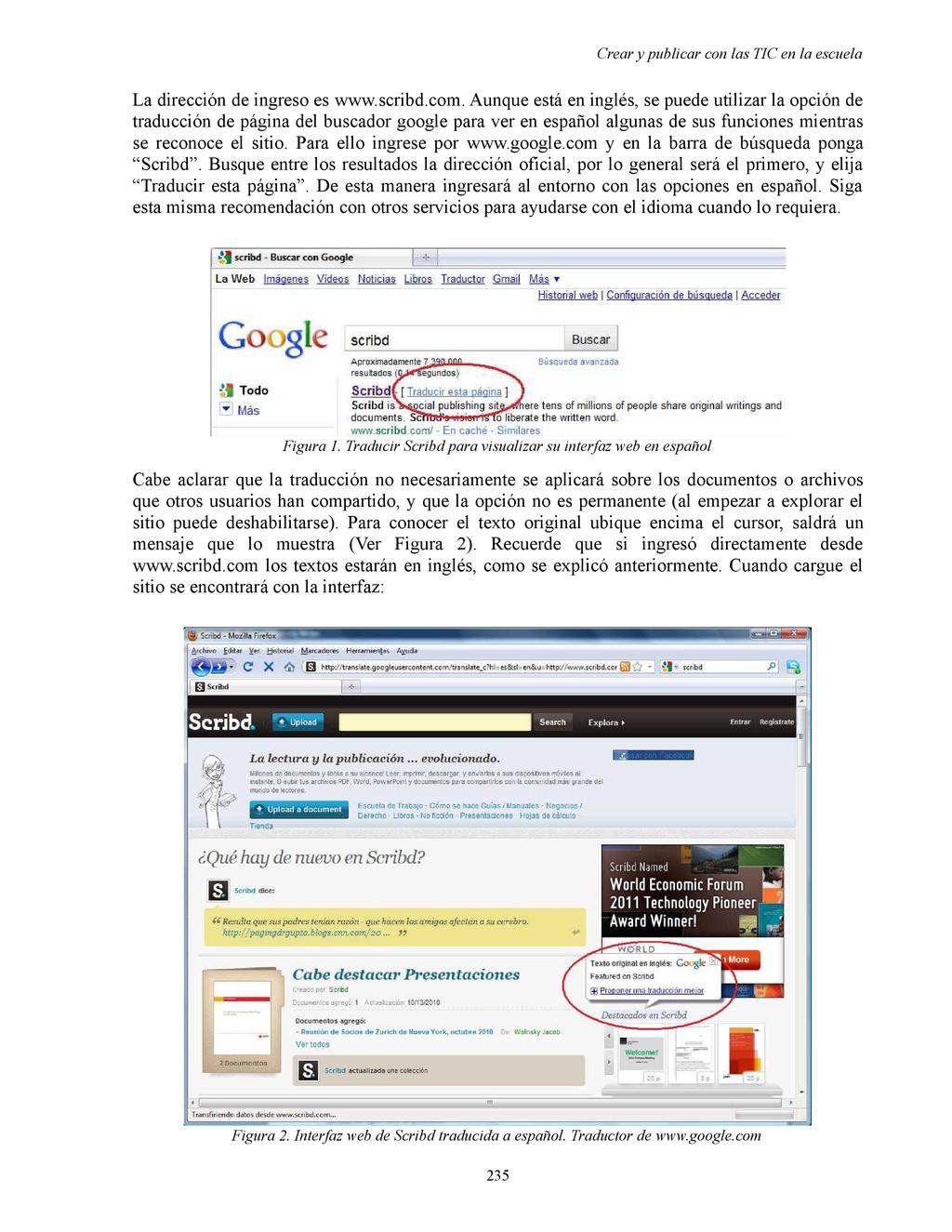 Crear y publicar con las TIC en la escuela La d...