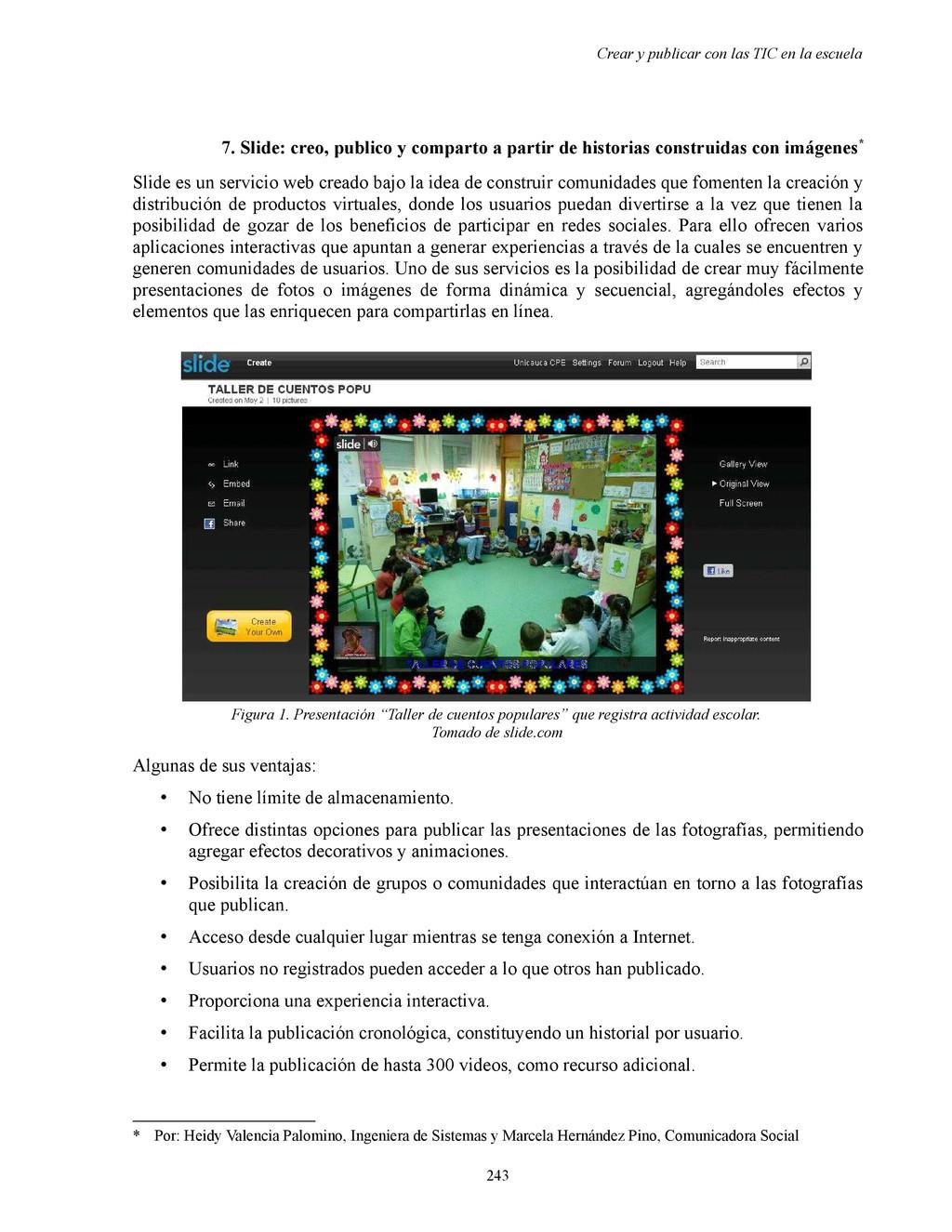 Crear y publicar con las TIC en la escuela 7. S...