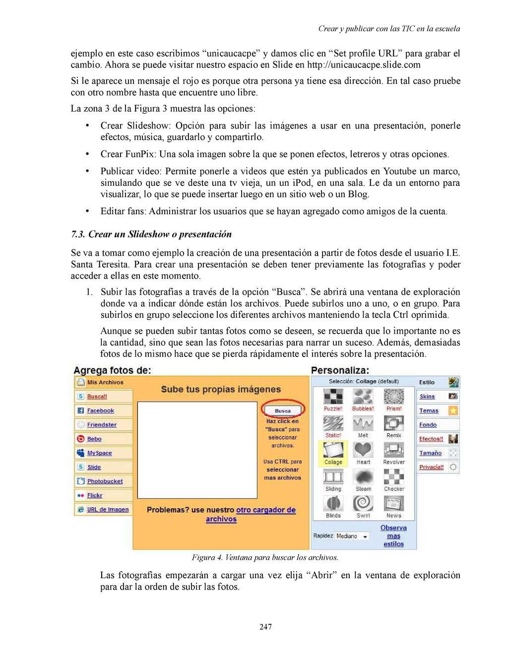 Crear y publicar con las TIC en la escuela ejem...