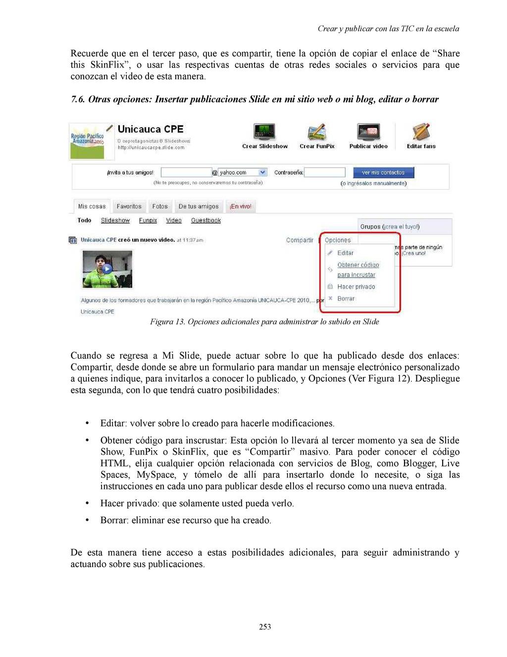 Crear y publicar con las TIC en la escuela Recu...