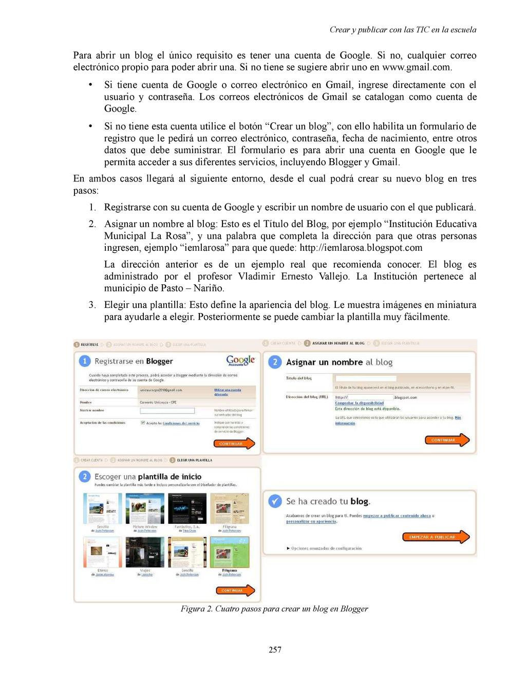 Crear y publicar con las TIC en la escuela Para...