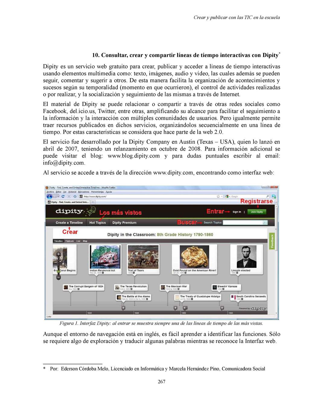 Crear y publicar con las TIC en la escuela 10. ...