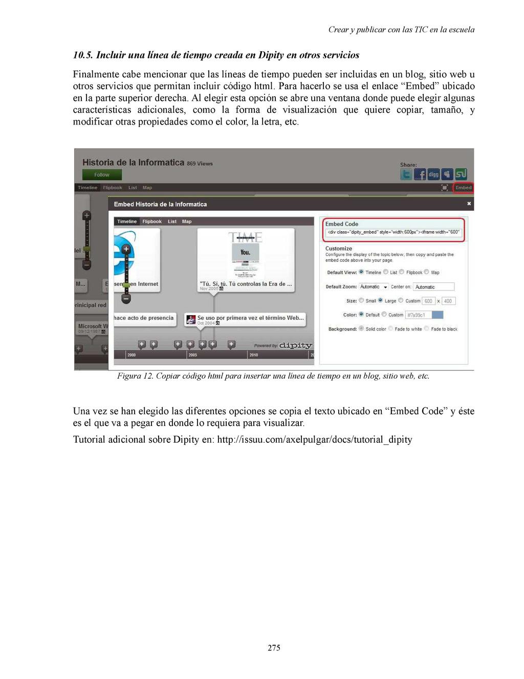 Crear y publicar con las TIC en la escuela 10.5...