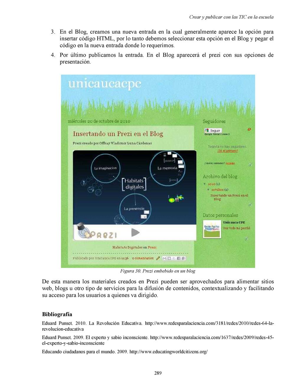 Crear y publicar con las TIC en la escuela 3. E...