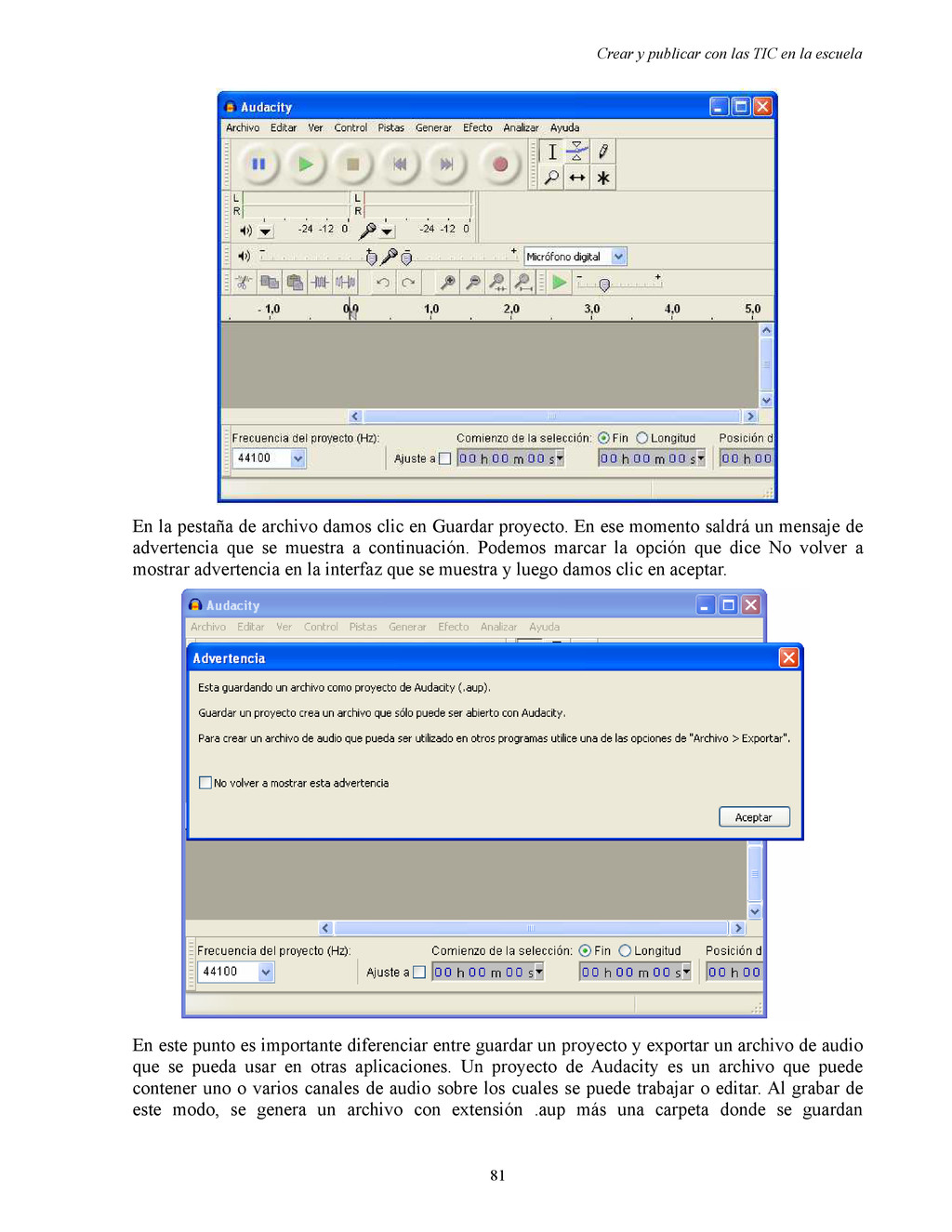 Crear y publicar con las TIC en la escuela En l...