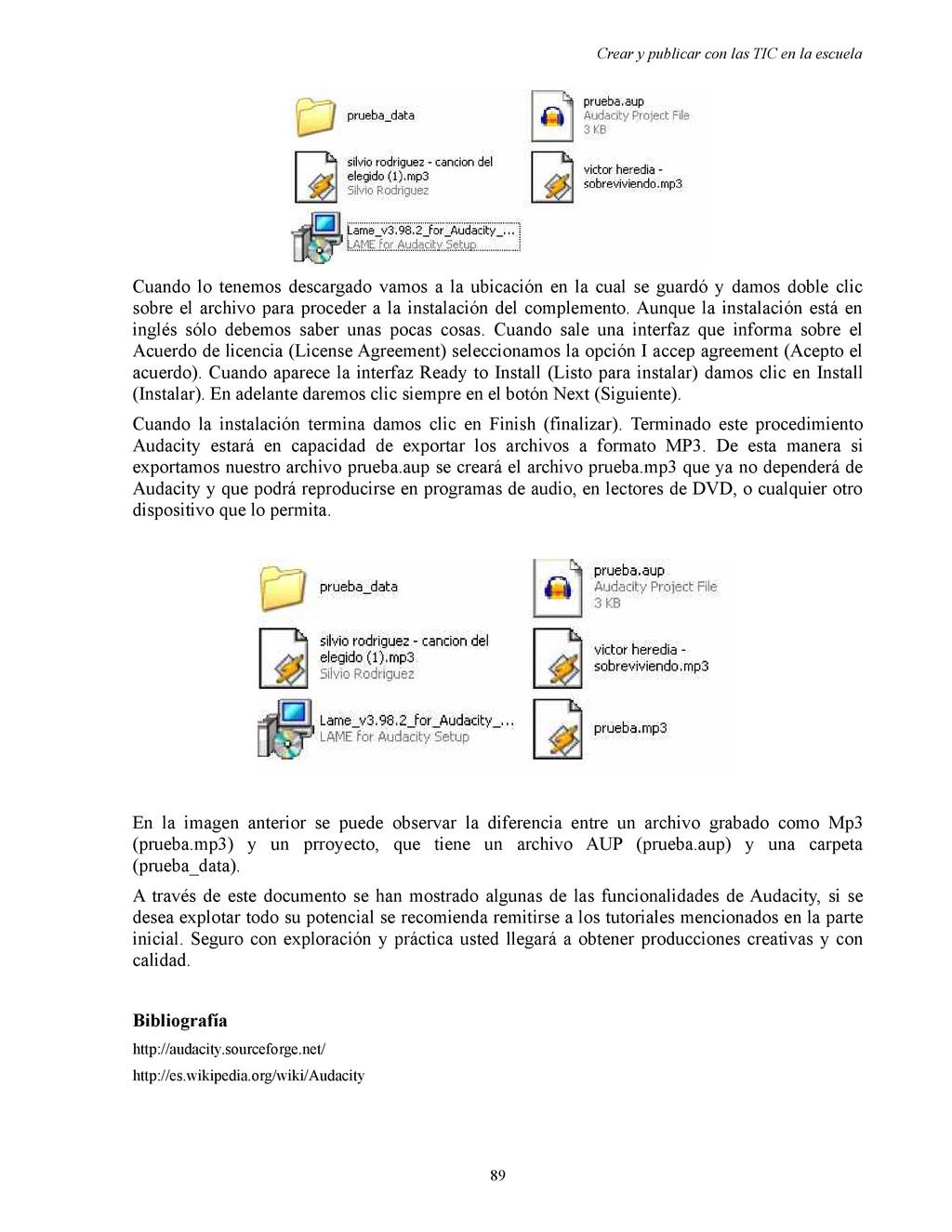 Crear y publicar con las TIC en la escuela Cuan...