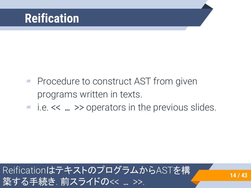 ▰ Procedure to construct AST from given program...