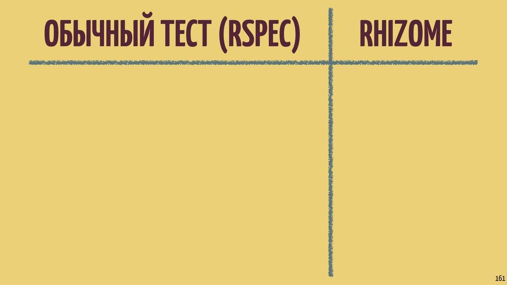 ОБЫЧНЫЙ ТЕСТ (RSPEC) 161 RHIZOME
