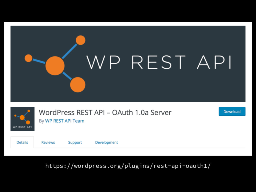 https://wordpress.org/plugins/rest-api-oauth1/